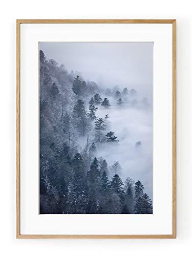 Póster Enmarcado niebla Pirineos-Marco 30x
