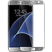 blufox * tanque 3d cristal de pantalla Plata Samsung Galaxy S6Edge Plus (g de 928) Plus vollab cobertura Curved Cristal protector de pantalla Vidrio Templado Gorilla Cristal de S plata Samsung Galaxy S6Edge Plus g928(5.5pulgadas 13,9cm)