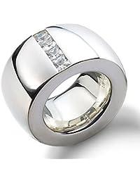 Joyas de diseño skielka Anillo de plata circonios oro forja (plata de ley 925)