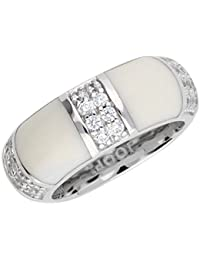 Joop JPRG90713B Damen Ring Amanda Sterling-Silber 925 Weiß Zirkonia 17,5 mm Größe 55