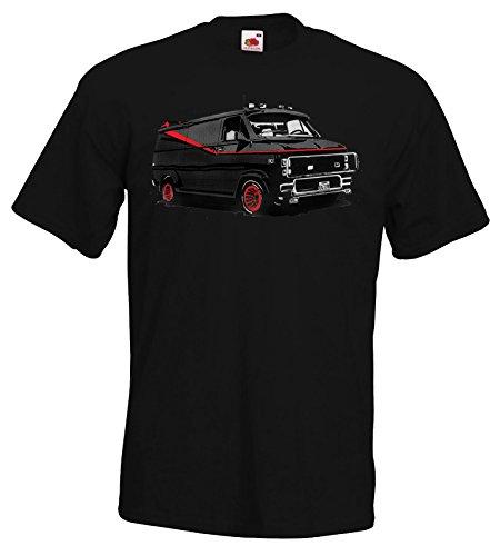 TRVPPY Herren T-Shirt Modell Van, Schwarz, 5XL