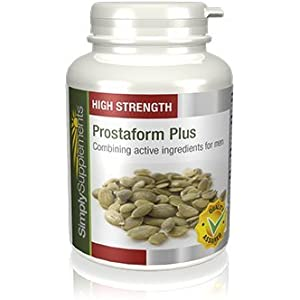 41iJjKtewCL. SS300  - Prostaform Capsules with Pumpkin Seed Extract, L-Glutamine & L-Arginine HCL | Vegan & Vegetarian Friendly | 180 Capsules | Manufactured in The UK