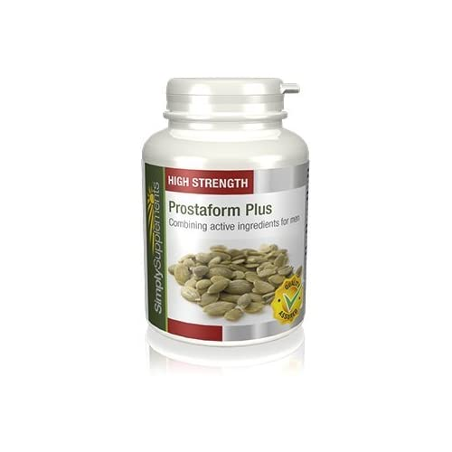 41iJjKtewCL. SS500  - Prostaform Capsules with Pumpkin Seed Extract, L-Glutamine & L-Arginine HCL | Vegan & Vegetarian Friendly | 180 Capsules | Manufactured in The UK
