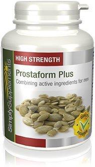 Prostaform Capsules with Pumpkin Seed Extract, L-Glutamine & L-Arginine HCL   Vegan & Vegetarian Friendly   180 Capsules…