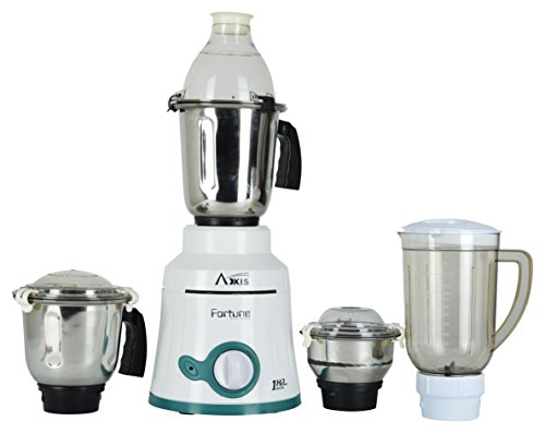 AXIS 750-Watt Gold Fortune Mixer Grinder with 3 Jars and 1 Juicer(White)