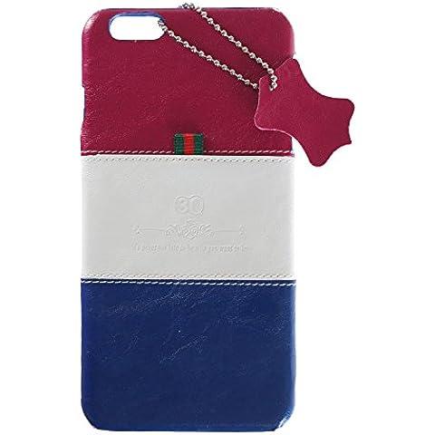 3Q Lujosa Funda Apple iPhone 6 Carcasa iPhone 6S Funda Novedad Mayo 2016 Carcasa iPHone 6 Top Diseño lujoso exclusivo Suizo Azul Blanco