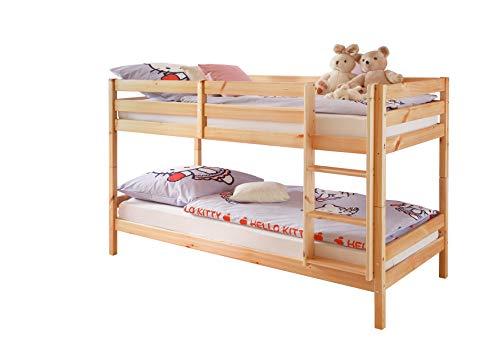 Avanti trendstore - anke - letto a castello in legno massiccio, scomponibile anche in 2 letti singoli. disponibile in 2 colorazioni diverse. (naturale)