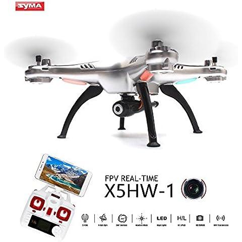 Syma X5HW-1 Wifi FPV RC Drone con Video macchina fotografica WayIn® 2.4Ghz 4CH RC Quadcopter senza testa con funzione Altezza attesa Argento