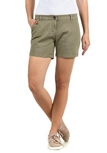 DESIRES Kathy Damen Chino Shorts Bermuda Kurze Hose aus Stretch-Material Skinny Fit, Größe:34, Farbe:Aloe (3612) (Baumwoll-twill Shorts)