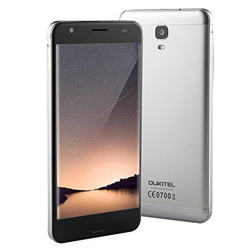 OUKITEL K6000 Plus - 6080mAh Smartphone Libre 4G de 5.5''FHD (Carga rápida 12V/2A, RAM 4G + ROM 64G, MTK6750T, 16.0M+8.0M, Android 7.0, lector de huellas dactilares frontal), gris
