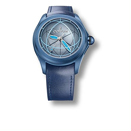Corum da uomo Heritage Bubble Blue Leather Band IP Steel case Automatic Analog Watch 082.312.98/0063 OP02 R