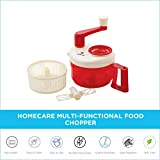 Homecare Eco Friendly Kitchen King Twin Blade Multi-Functional Food Chopper, Blender, Cutter with Convenient Rotating Handle Attached Lid and BPA Free Plastic Container |1200ML|