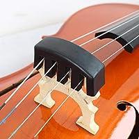 Práctica Negro pesado de revestimiento de goma recubierto de goma Cello Silencio Silencio para proteger su puente y el instrumento (Negro)