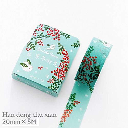 beband 1 Stück Sakura Washi Tape Cartoon Blume Kugel Journal Aufkleber Scrapbooking Diy Dekorative Aufkleber Schule Unterstützung Kawaii,Han Dong Chu Xian ()