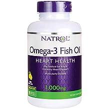 Natrol Omega 3 Aceite De Pescado, 1000 mg Sabor Natural De Limón -150 Cápsulas