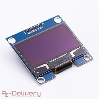 AZDelivery ⭐⭐⭐⭐⭐ 128 x 64 Pixel 1,3 Zoll OLED I2C Display für Arduino und Raspberry Pi mit Gratis eBook!