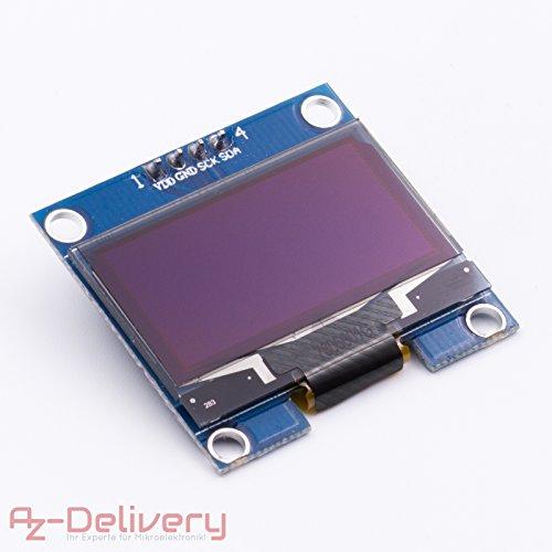 AZDelivery ⭐⭐⭐⭐⭐ 128 x 64 Pixel 1,3 pouces OLED IIC Écran pour Arduino et Raspberry Pi 1 x OLED Display