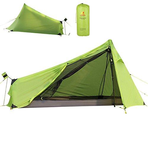 Andake Tente de Camping pour Une Personne Ultra-Leger(780G) - Tente de Voyage