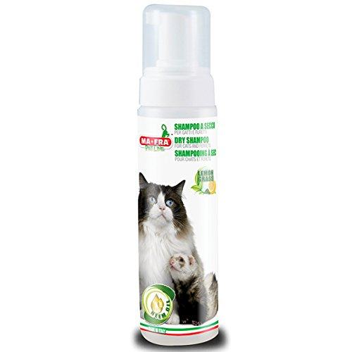 Ma-Fra, Shampoo a Secco per Gatti e Furetti, Uso Frequente, Senza Risciaquo, con Olio di...