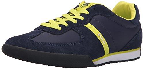 Polo Ralph Lauren Jacory Nylon Fashion Sneaker Newport Navy/Neon Yellow
