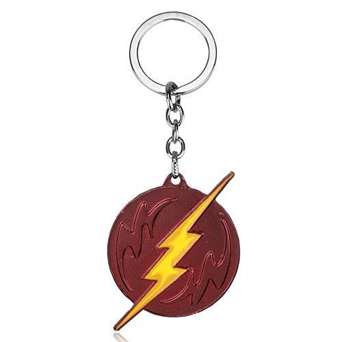 The Flash Dc Super Hero Flash Lightning Logo Necklaces Pendants For Movie Superman Men Fans Christmas Cosplay Gift