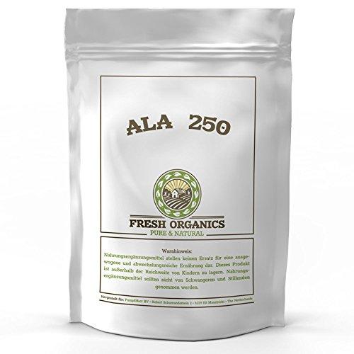 ALA-250 ADVANCED ANTIOXIDANT | 250 Kapseln á 250 mg | Hochdosiert - Reine Alpha Liponsäure | Hochdosiert | Antioxidant & Anti-Aging | Pharmaqualität zum fairen Preis