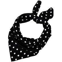 SXON Couleur Noir Classique Traditionnel Foulard Carré Echarpe à Pois Blanc  ... 38c7159b77f