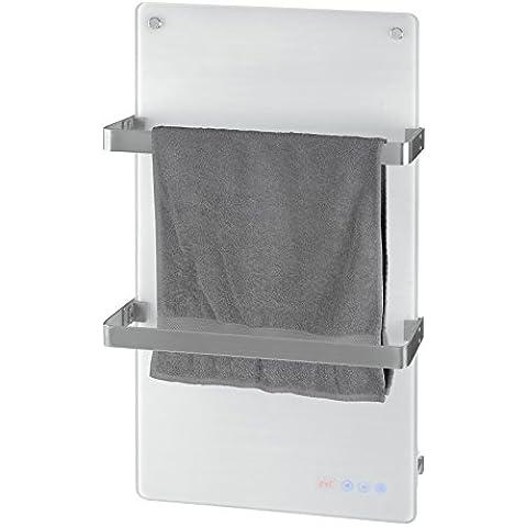 Radiador electrónico de baño, de cristal, Eurom Sani Comfort, Toallero con Radiador-calentador de toallas