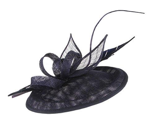 fascinator dunkelblau GEMVIE Damen Kopfschmuck Fascinator Hochzeit Mini Hut Haarschmuck Hut Dunkelblau