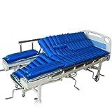 Materasso a pressione alternata-Pad letto gonfiabile per ulcera da pressione e trattamento mal di pressione-include pompa pneumatica e materassino,Blue