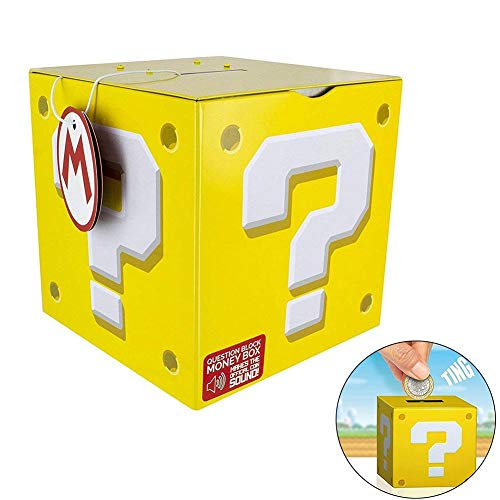 josietomy Hucha, Super Mario Question Mark Box Money Box, Bank of Piggy Bank Juguetes Educativos para Niños