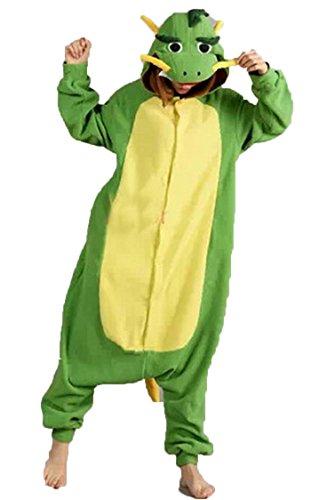 Kigurumi Erwachsene Unisex Pyjama Kostüm Onesie Tier Fasching Karneval Halloween Verkleidung, Chinesischer Drache