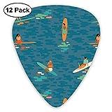 Surf Goddess_1074 Classic Celluloid Picks, 12 Stück, für E-Gitarre, Akustikgitarre, Mandoline und Bass