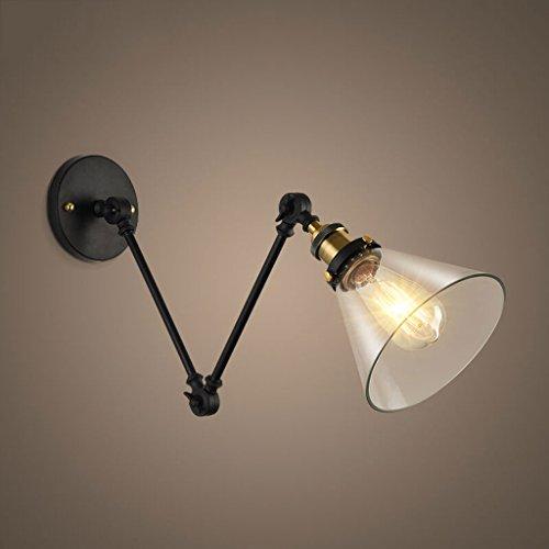HJZY Plafonnier Applique Style Européen Simple Simplicité Fer Applique Murale Appliques Industrielles Designer Mchanical Arm Applique Murale Lampe de chevet