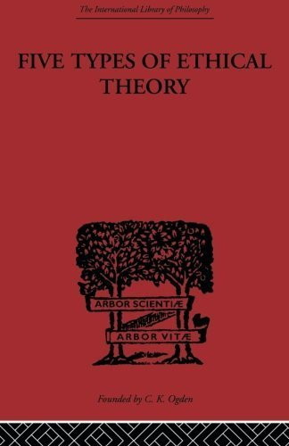 Five Types of Ethical Theory (International Library of Philosophy) by C.D. Broad (2008-10-10)
