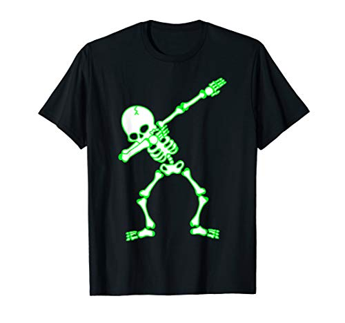 Tabbing Skelett, lustiges Halloween-Kostüm, Kinder Geschenk T-Shirt (Piraten Mädchen Diy Kostüm)
