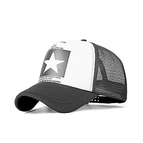 HXXBY 2019Dropshipping Baseball Cap Für Frauen Männer Mesh Cap Hysteresenhut Knochen Einstellbare Baseballmütze Hut Großhandel (Color : Black and White Black net 2)