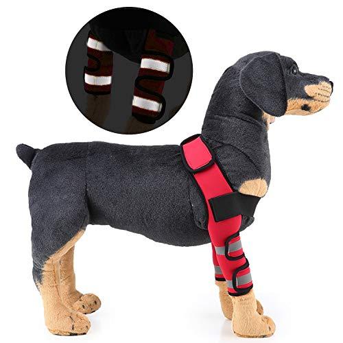 SELMAI Bandagen für Hunde Ellenbogen Schützen Schulter Vorderbein Klammer Canine Gelenkwickel Arthritis Verlust der Stabilität Hilft bei Wundheilung Verhindert Verletzungen Verstauchungen Rot S -