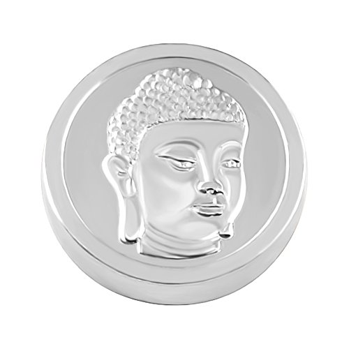 Quiges Kupfer Austauschbare Mini Coin 12mm Wechselstein Silber Buddha Kopf für Ringe-Ohrringe-Anhänger-Armband Halter -
