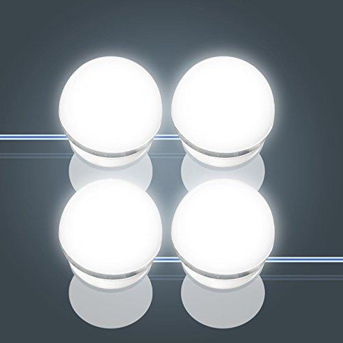 [Version Améliorée 2018] Hollywood Style Kit de lumières Hollywood Lights Kit de Lumière LED pour Miroir de Courtoisie de Modèle Hollywood pour Maquillage, Luminaires Eclairage de Salle de Bain pour Make-up