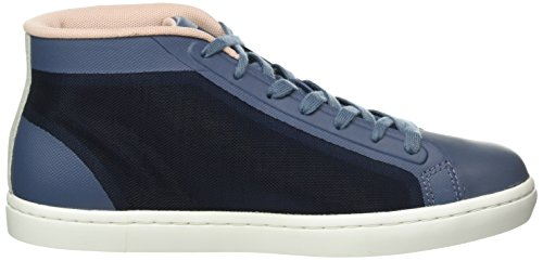 Lacoste Straightset Chukka 316 2, Baskets Basses Femme Bleu - Blau (BLU 125)