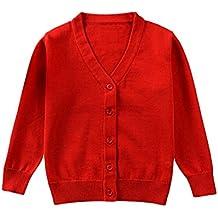 QUICKLYLY Cárdigan Suéter de Punto para bebés niña niño Chaquetas ... e4f08e27ae6
