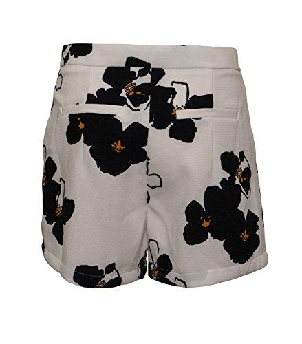 SUNCOO Damen Shorts Ben mit Blumenprint Blanc Casse