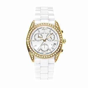 Stella Maris STM15F6 - Reloj de cuarzo con correa de cerámica para mujer, color blanco de Stella Maris