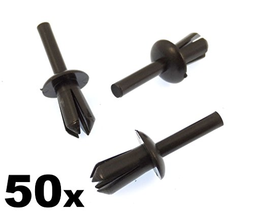50x 5mm Kunststoff Stift Clips für Radzierblenden, Wheel Arch Liner/Futter & moudlings...