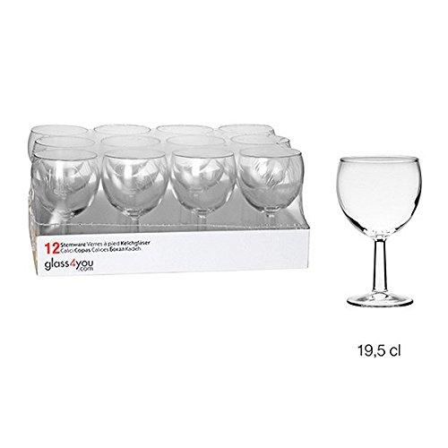 KB8 - Verres à pied x 12 à vin ballon 19 ,5 cl PREMIER*