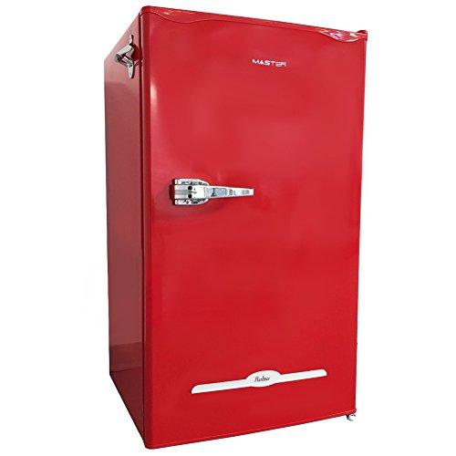 Mini-Kühlschrank Vintage Class 90 Rot Master mit Frezeer Energieklasse A+ 47 x 82 x 43 cm