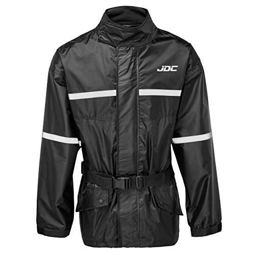 JDC Surveste De Pluie Etanche A Haute Visibilité pour Moto - Shield - Noir - L