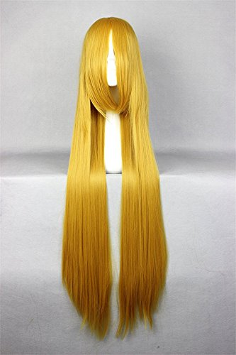 LanTing Cosplay Perücke Sailor Moon Sailor V,Sailor Venus Gold Lange Perücke Styled Frauen Cosplay Party Fashion Anime Human Costume Full wigs Synthetic Haar Heat Resistant Fiber
