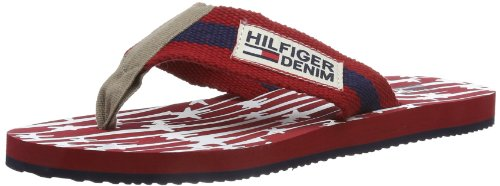 Hilfiger Denim BOBBY 2C EM56816997, Herren Zehentrenner, Rot (STARS AND STRIPE/CHILI PEPPER 157), EU 42